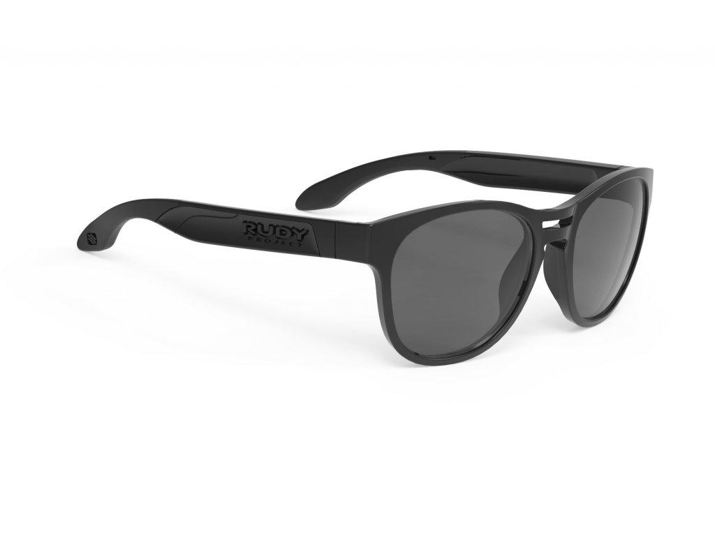 Brýle SPINAIR 56 - Black Gloss/RP Optics Smoke Black