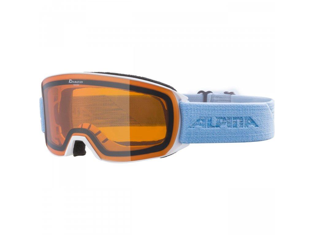 Lyžařské brýle Alpina Nakiska DH - white/skyblue