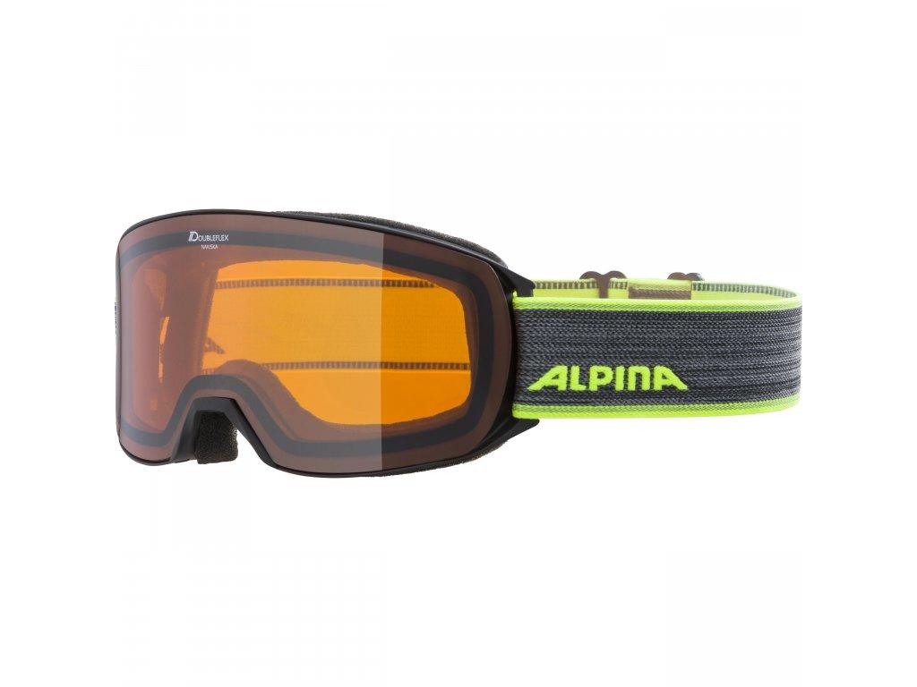 Lyžařské brýle Alpina Nakiska DH - black/neon