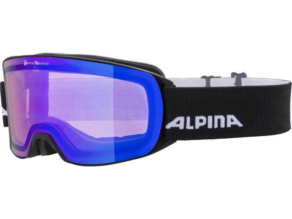 Lyžařské brýle Alpina Nakiska QVM - black matt