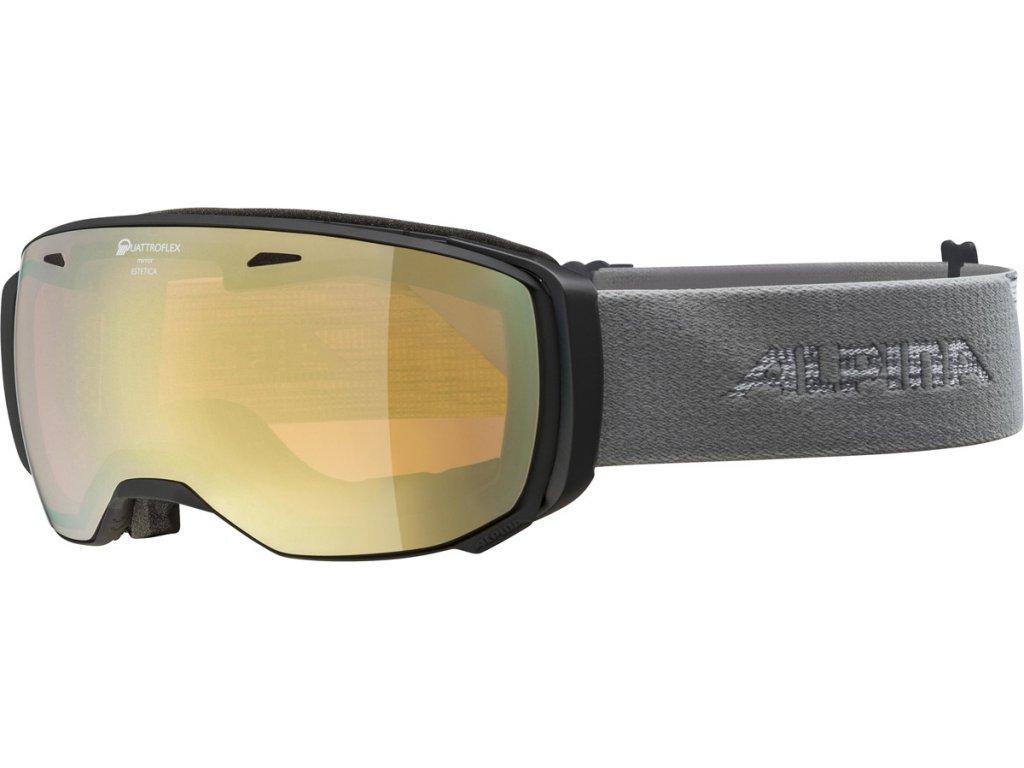 Lyžařské brýle Alpina Estetica QHM - black/grey
