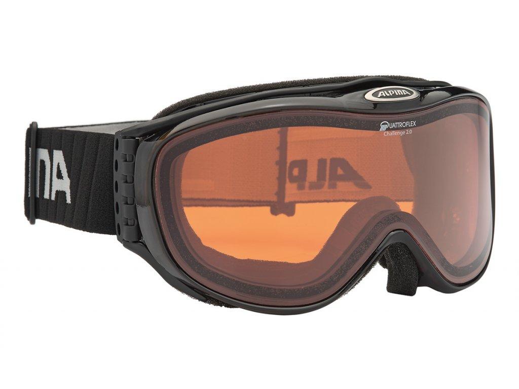 Lyžařské brýle Alpina Challenge 2.0 QH - black/transparent