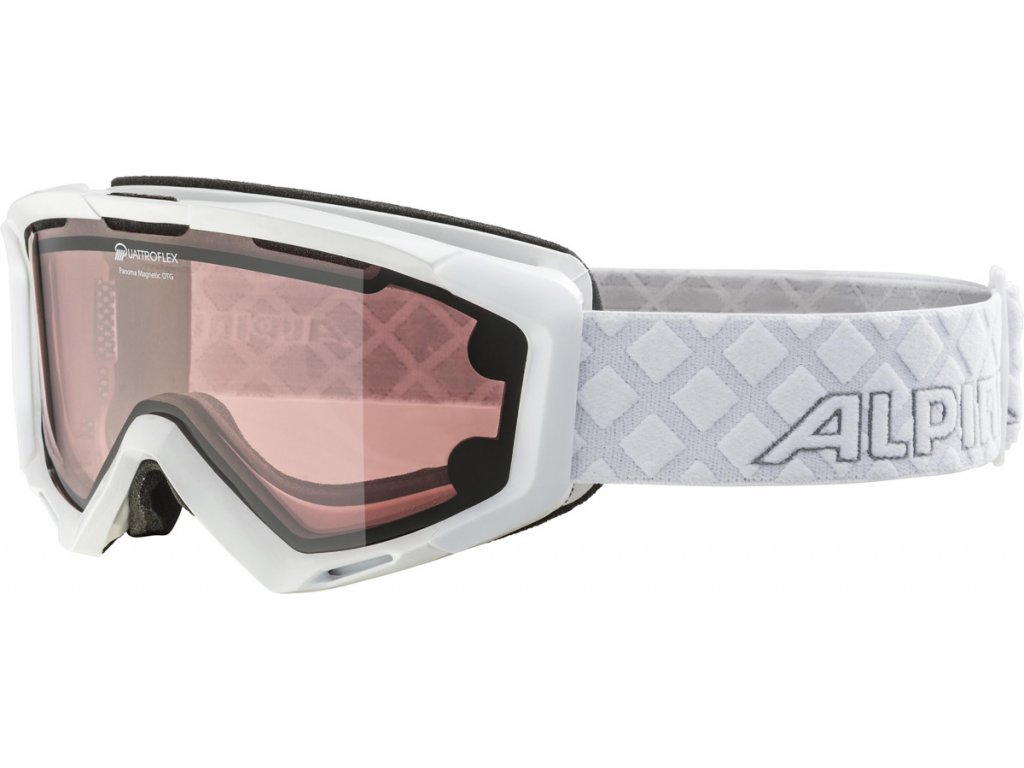 Lyžařské brýle Alpina Panoma Magnetic Q+S - white