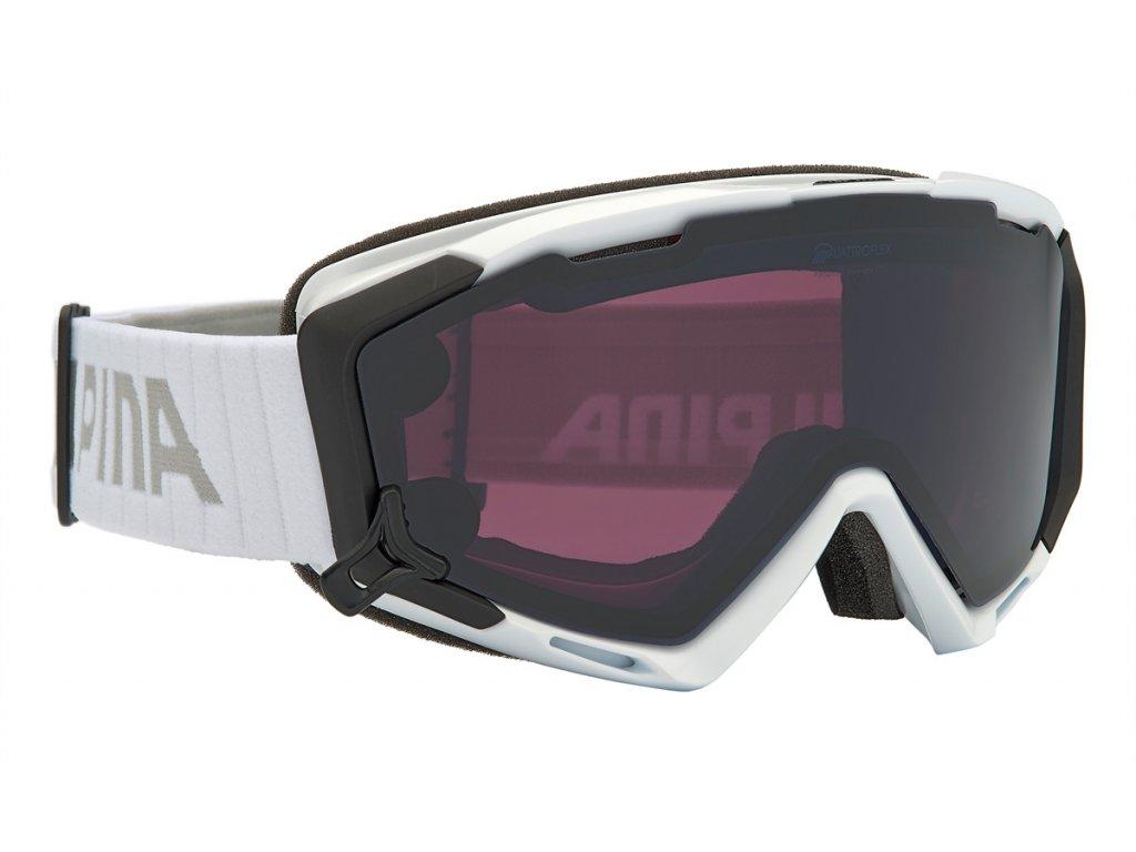 Lyžařské brýle Alpina Panoma S Mag. Q+S - white