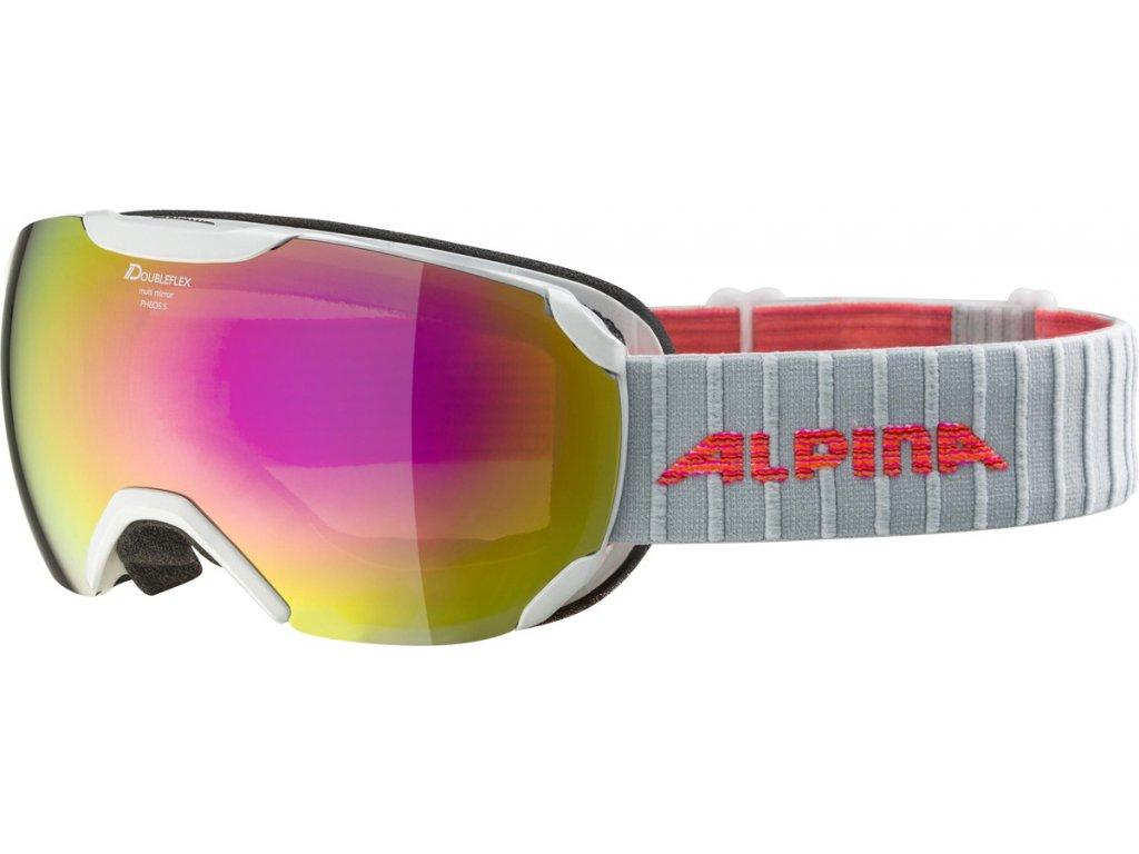 Lyžařské brýle Alpina Pheos S HM - pearl white