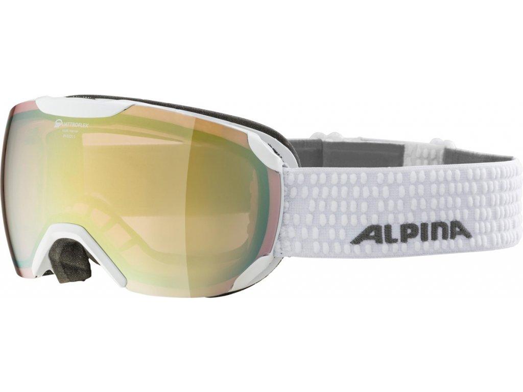 Lyžařské brýle Alpina Pheos S QVM - white