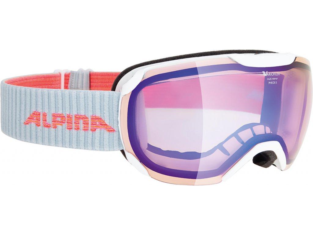 Lyžařské brýle Alpina Pheos S VMM - white