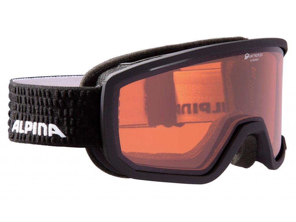 Lyžařské brýle Alpina Scarabeo QH - black matt