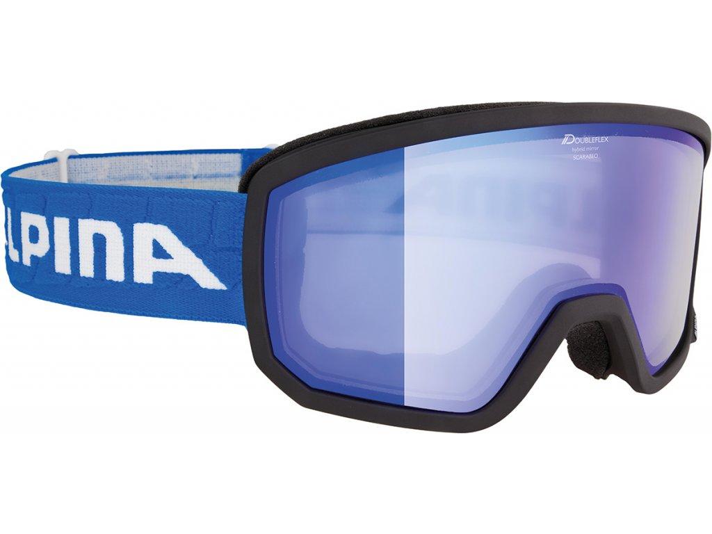 Lyžařské brýle Alpina Scarabeo R - black/blue