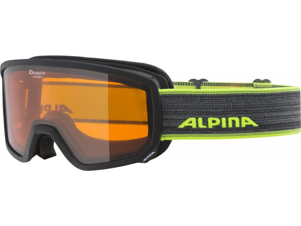 Lyžařské brýle Alpina Scarabeo S DH - black/neon