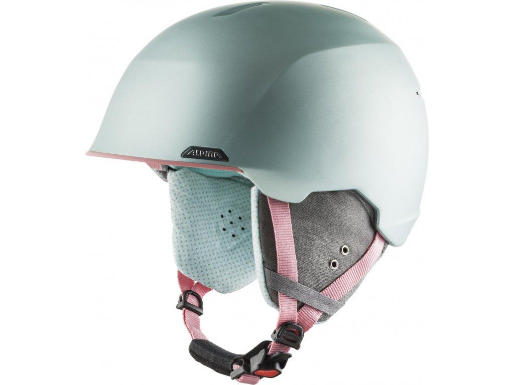 Lyžařská helma Alpina Albona - seagreen/coral matt