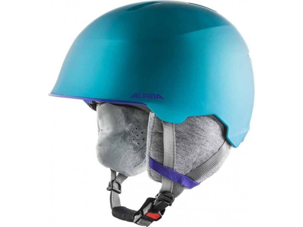 Dětská lyžařská helma Alpina Maroi JR - turquoise matt
