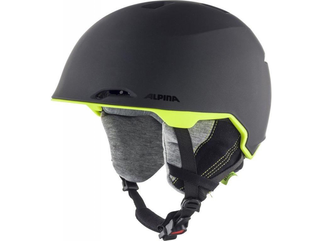 Lyžařská helma Alpina Maroi - charcoal/neon matt