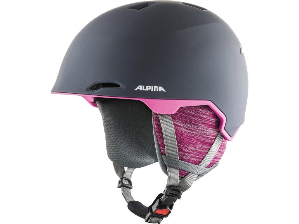 Lyžařská helma Alpina Maroi - grey/pink matt