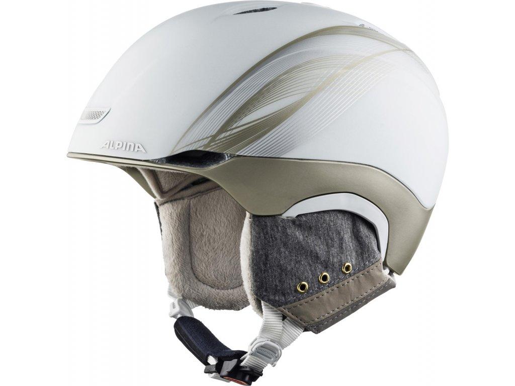 Lyžařská helma Alpina Parsena - white/prosecco matt