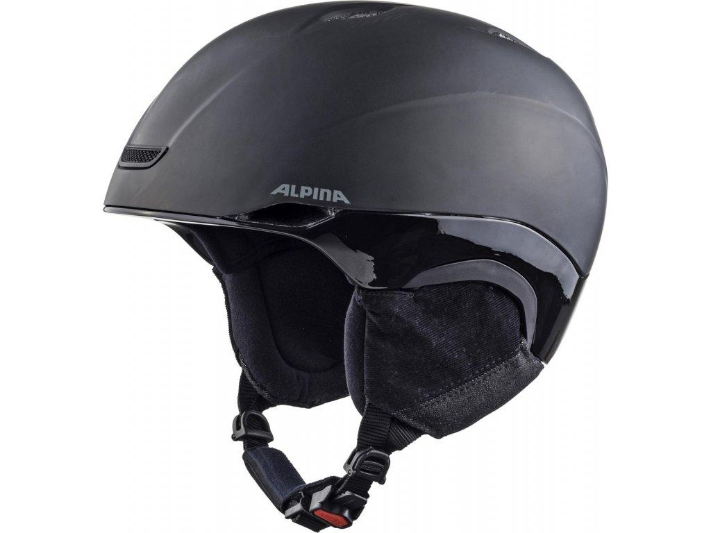 Lyžařská helma Alpina Parsena - black matt