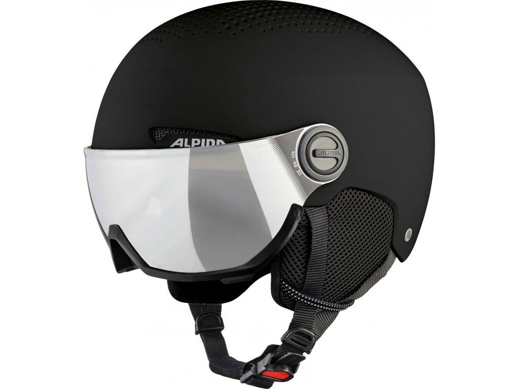 Lyžařská helma Alpina Arber Visor - black matt