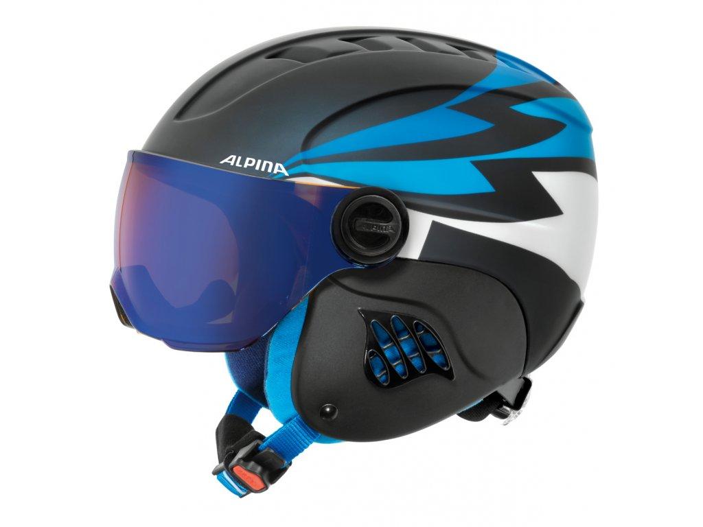 Dětská lyžařská helma Alpina Carat LE Visor HM - nightblue