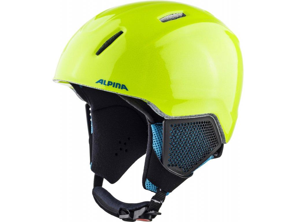 Dětská lyžařská helma Alpina Carat LX - neon/yellow