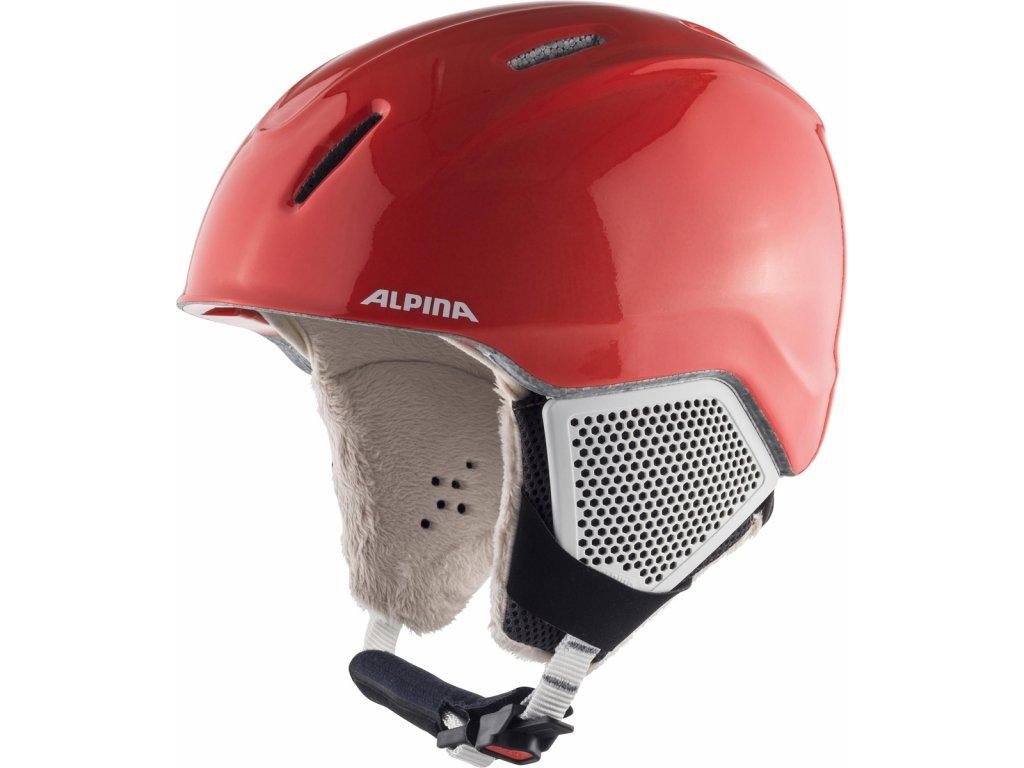 Dětská lyžařská helma Alpina Carat LX - flamingo matt