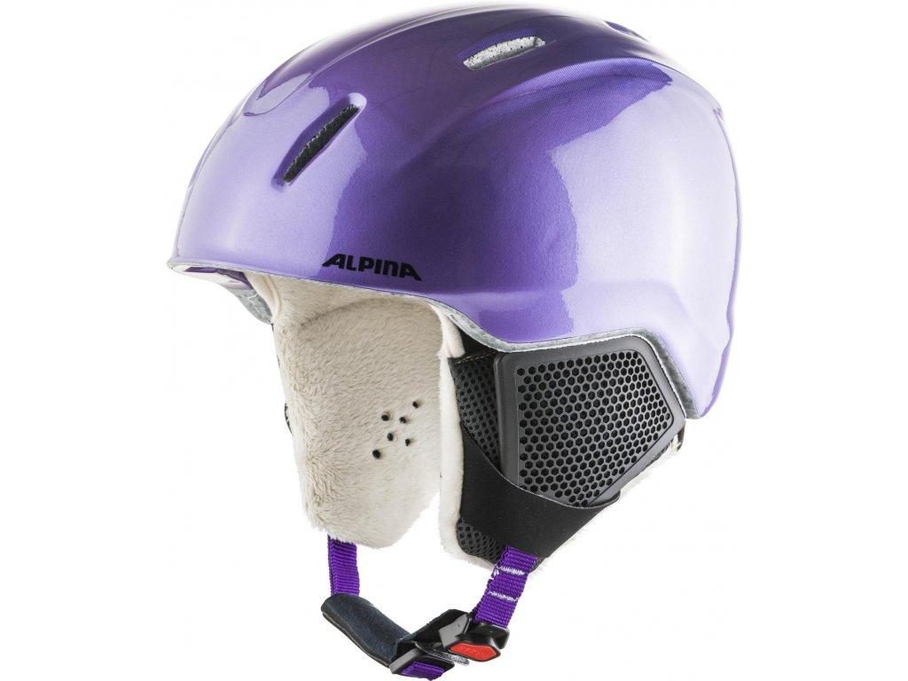 Dětská lyžařská helma Alpina Carat LX - flip/flop purple