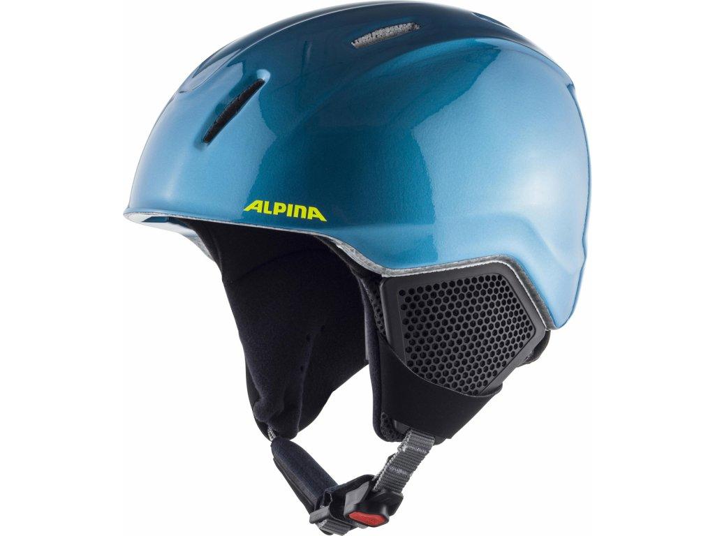 Dětská lyžařská helma Alpina Carat LX - blue/neon yellow