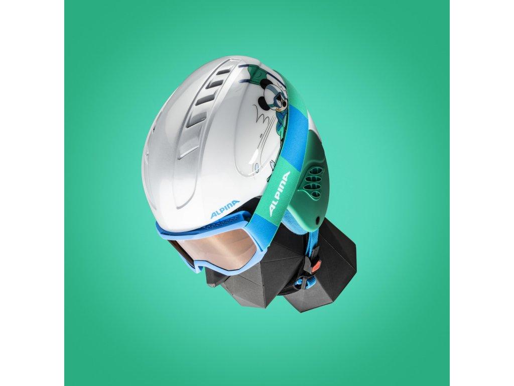 Dětská lyžařská helma a brýle (set) Alpina Carat Disney - Mickey Mouse