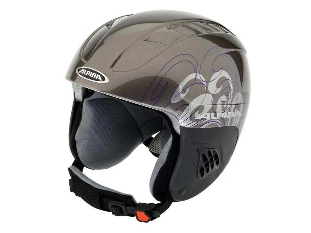 Dětská lyžařská helma Alpina Carat - anthracite/purple