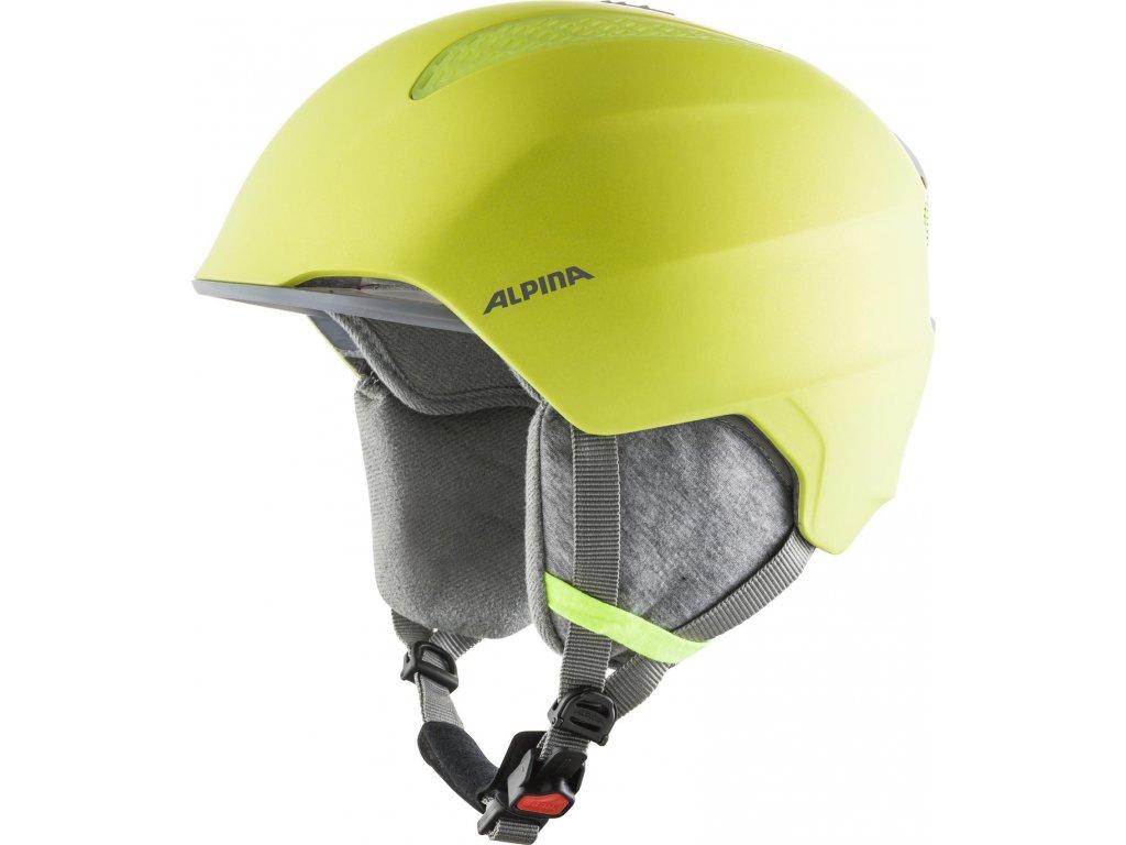 Dětská lyžařská helma Alpina Grand JR - neon yellow