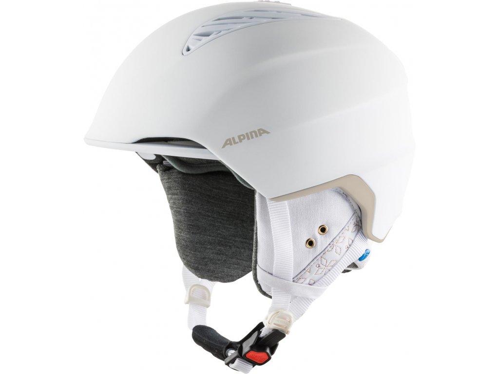 Lyžařská helma Alpina Grand Lavalan - white/prosecco matt