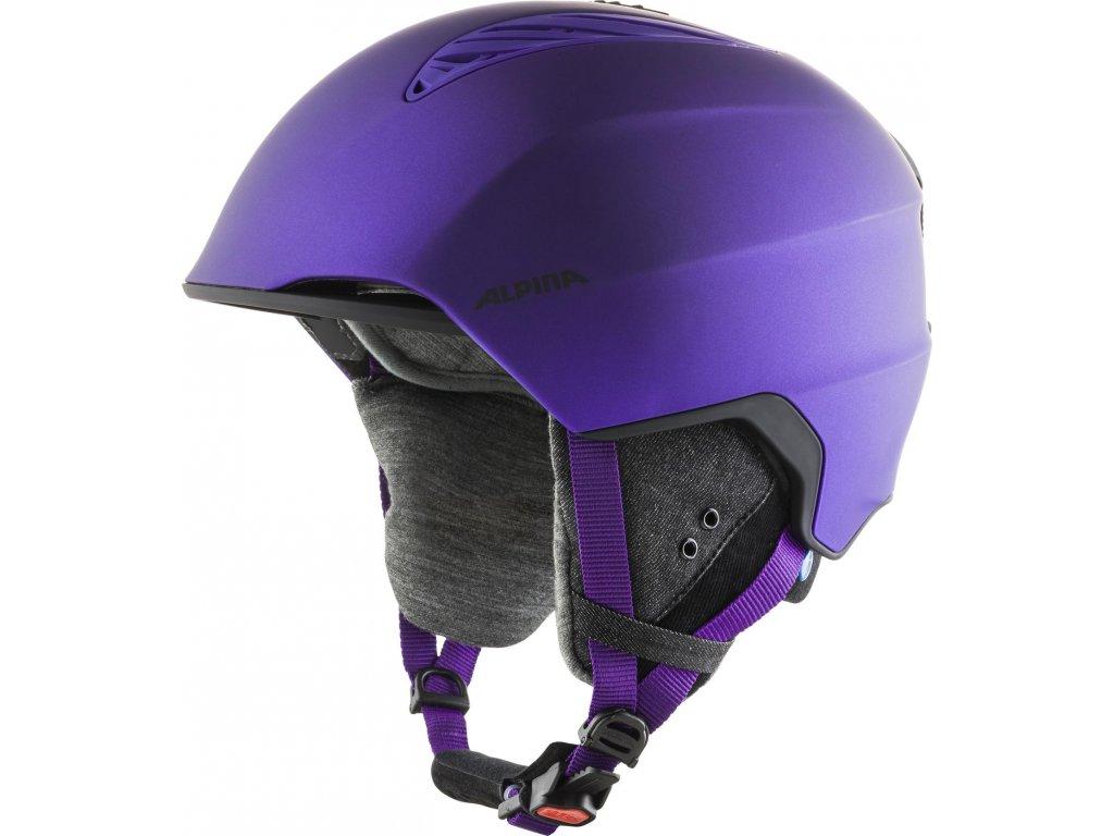 Lyžařská helma Alpina Grand Lavalan - dark/violet matt