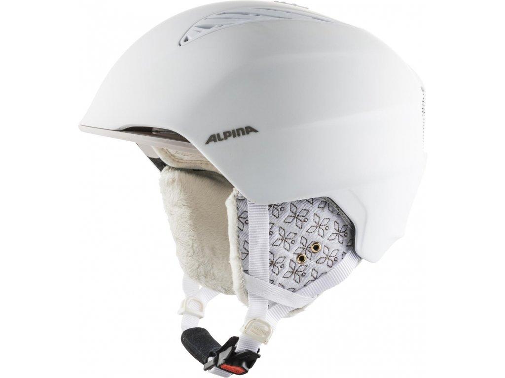 Lyžařská helma Alpina Grand - white/prosecco matt