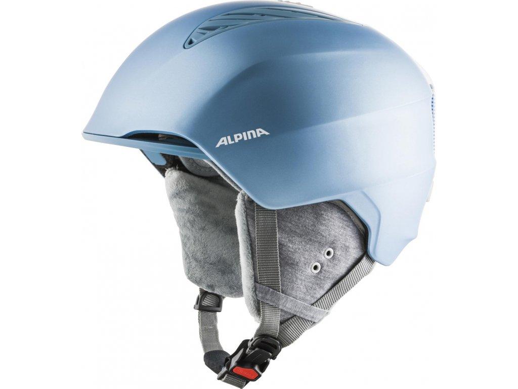 Lyžařská helma Alpina Grand - skyblue/white matt