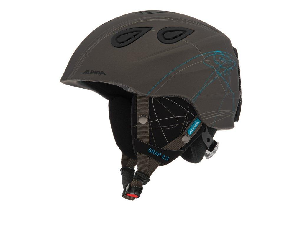 Lyžařská helma Alpina Grap 2.0 - grey matt