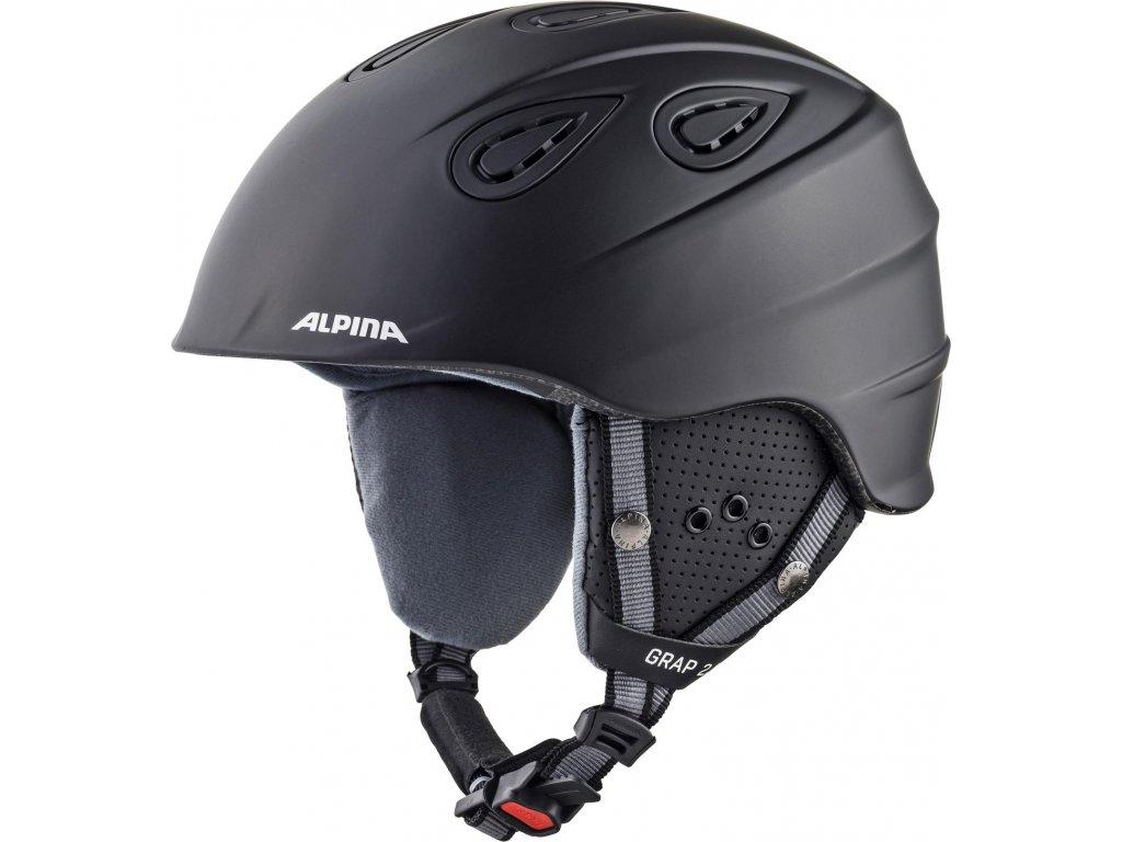 Lyžařská helma Alpina Grap 2.0 - black matt