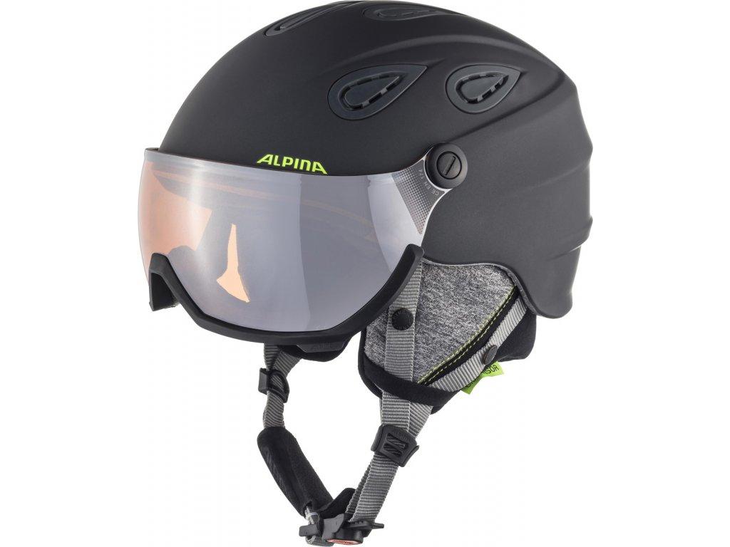 Lyžařská helma Alpina Grap Visor 2.0 HM - charcoal/neon matt