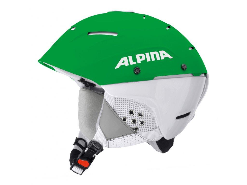 Lyžařská slalomová helma Alpina Cheos SL - green/white