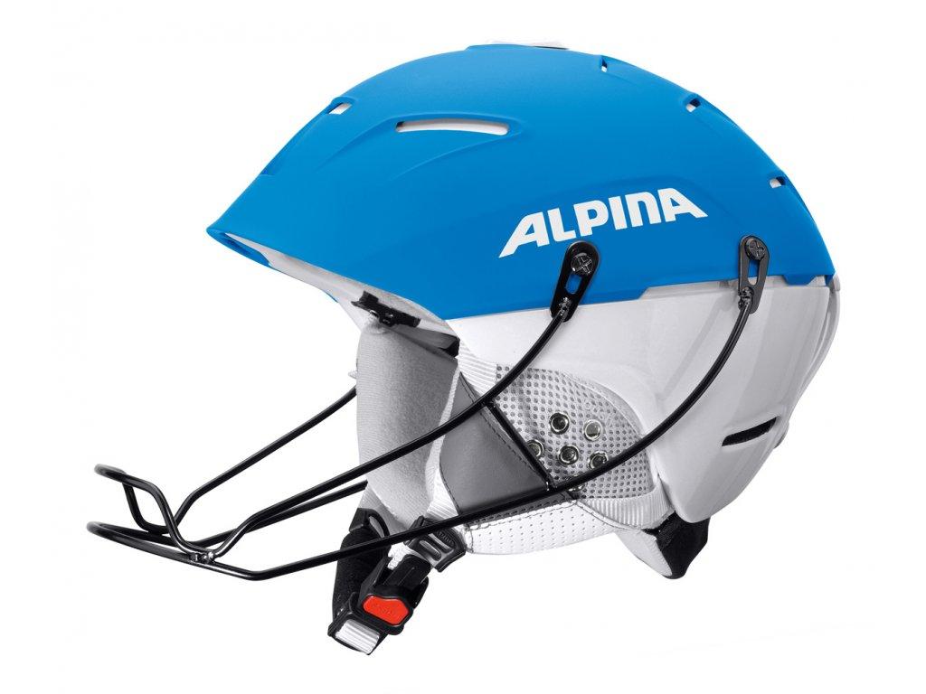 Lyžařská slalomová helma Alpina Cheos SL - blue/white
