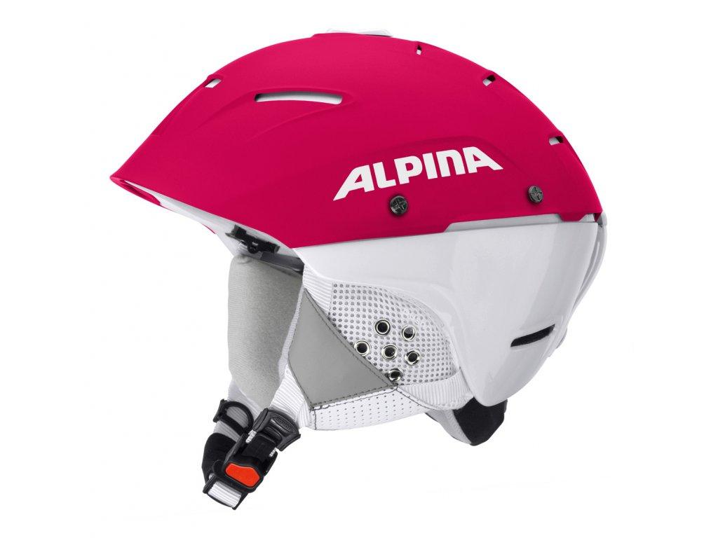 Lyžařská slalomová helma Alpina Cheos SL - purple/white