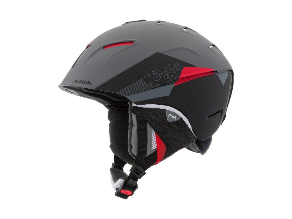 Lyžařská helma Alpina Cheos - lava/grey matt