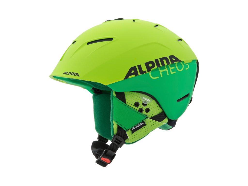 Lyžařská helma Alpina Cheos - two/green matt