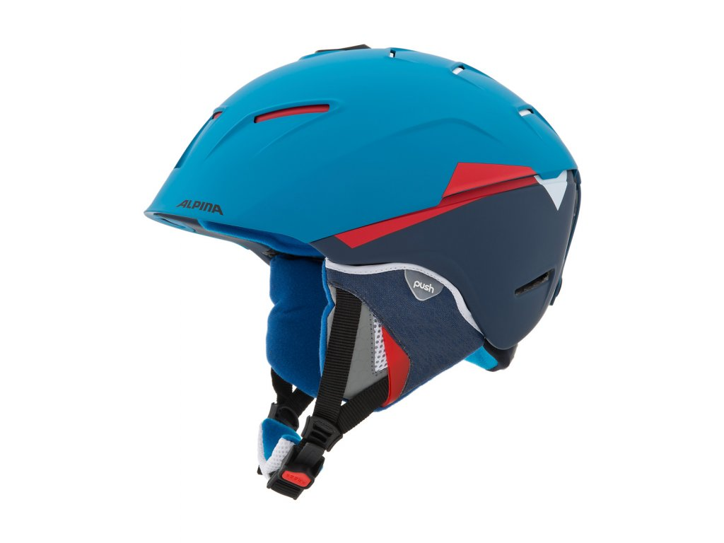 Lyžařská helma Alpina Cheos - blue/red matt