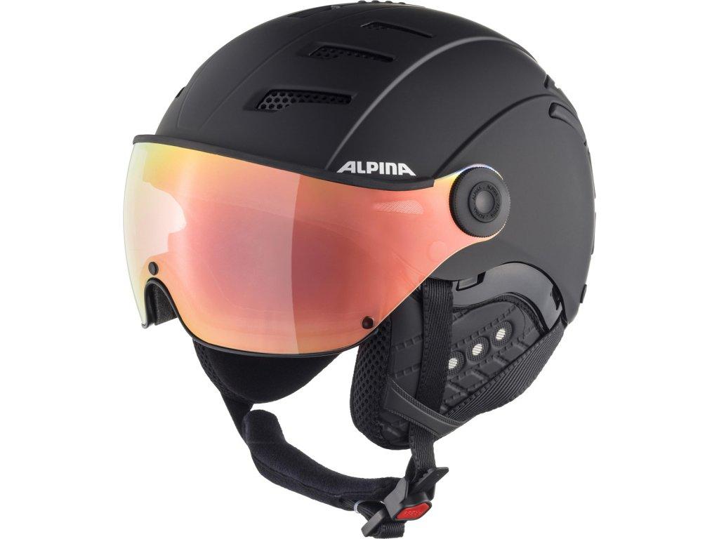Lyžařská helma Alpina Jump 2.0 HM - black matt