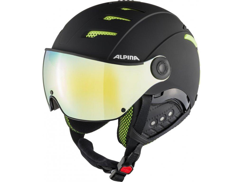 Lyžařská helma Alpina Jump 2.0 HM - black/lime matt