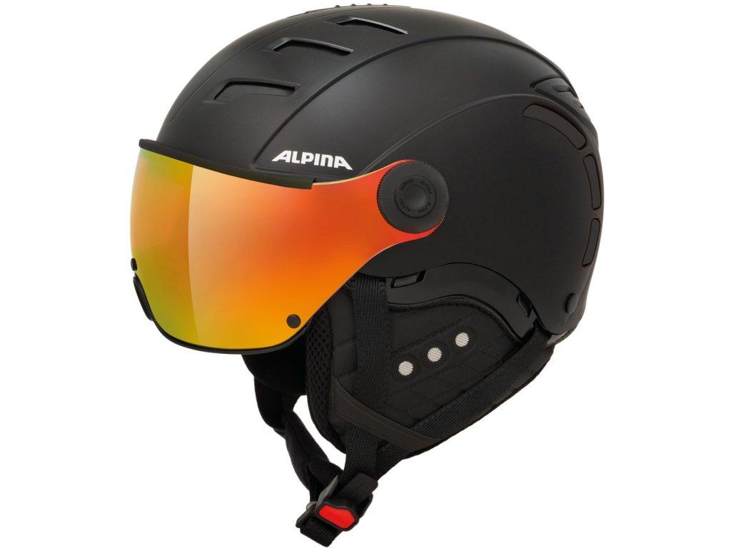 Lyžařská helma Alpina Jump 2.0 QVM - black matt