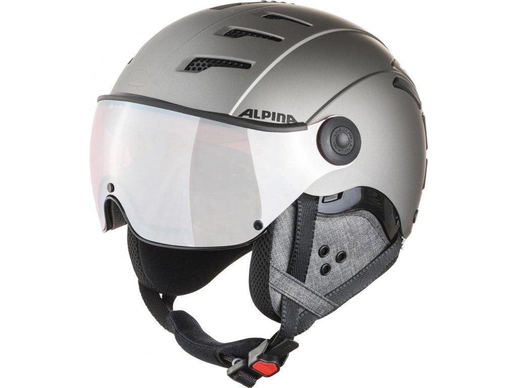 Lyžařská helma Alpina Jump 2.0 QVM - gunmetal matt