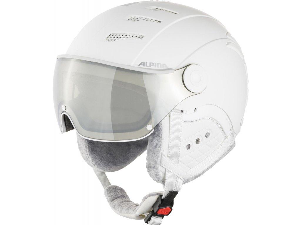 Lyžařská helma Alpina JUMP 2.0 VM - white/grey matt
