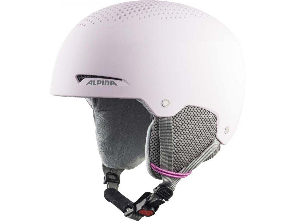 Dětská lyžařská helma Alpina Zupo -light/rose matt