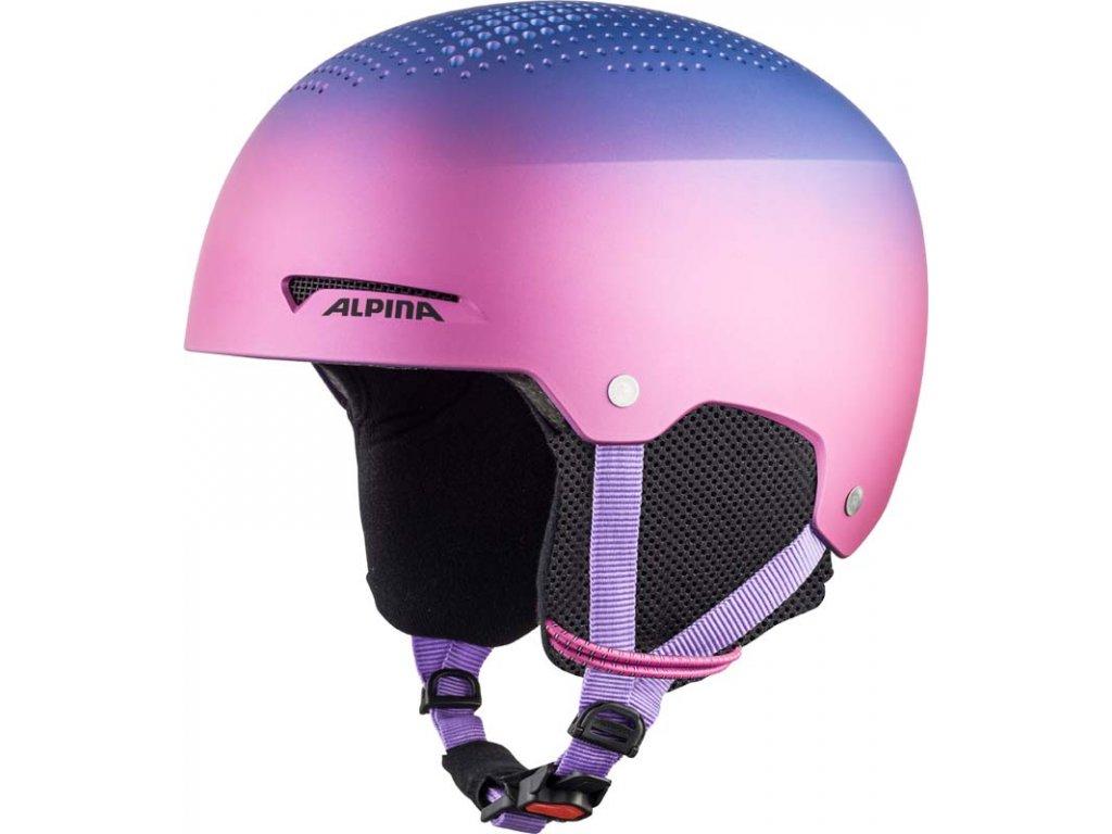 Dětská lyžařská helma Alpina Zupo - flip/flop purple matt