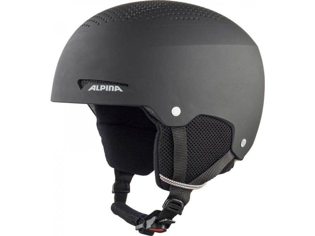 Dětská lyžařská helma Alpina Zupo - black matt